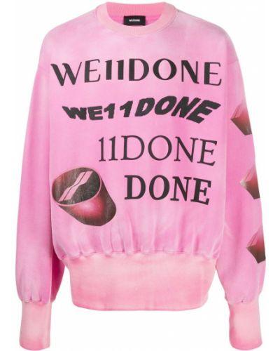 Розовый топ с круглым вырезом круглый оверсайз We11done