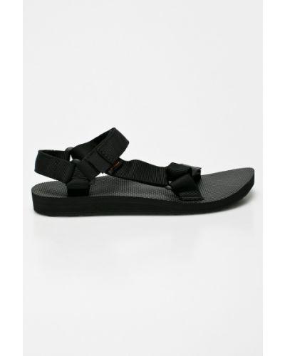 Черные сандалии текстильные Teva