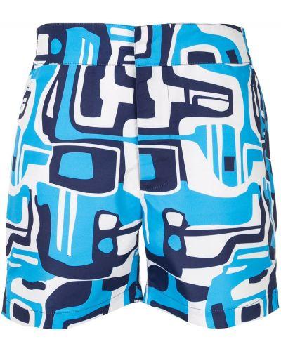 Klasyczne niebieskie szorty Frescobol Carioca