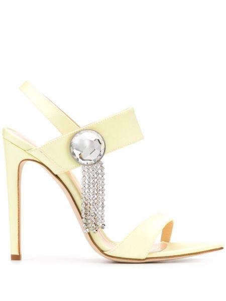 Желтые с ремешком открытые босоножки с открытым носком Chloe Gosselin