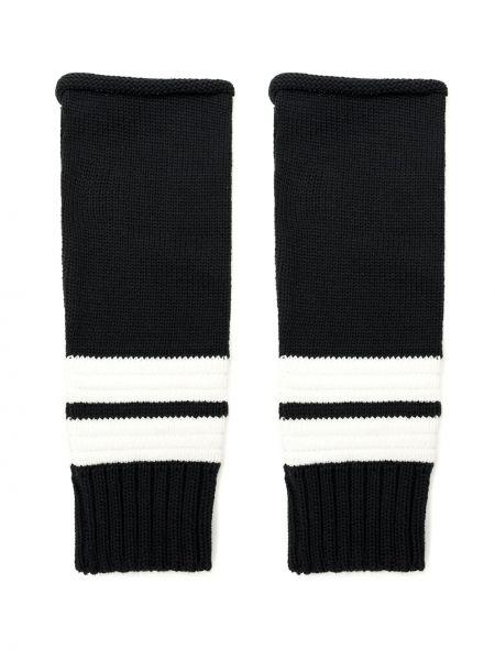 Czarne rękawiczki bez palców z akrylu Andrea Bogosian