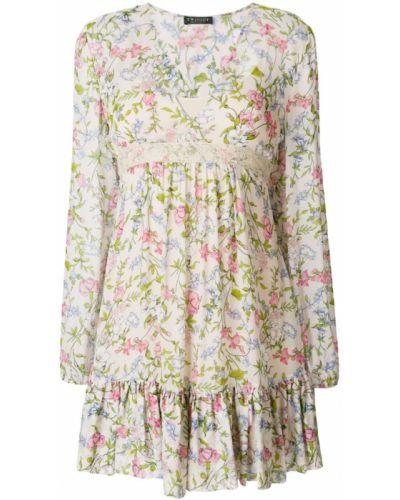 Платье с цветочным принтом с V-образным вырезом солнце Twin-set