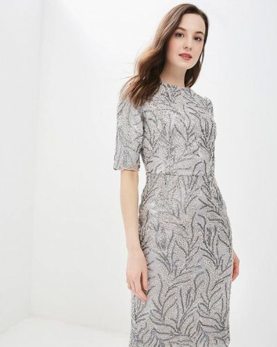 Вечернее платье весеннее серебряный Madam T