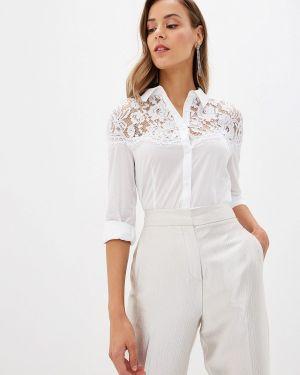 Белая блузка с поясом Love Republic