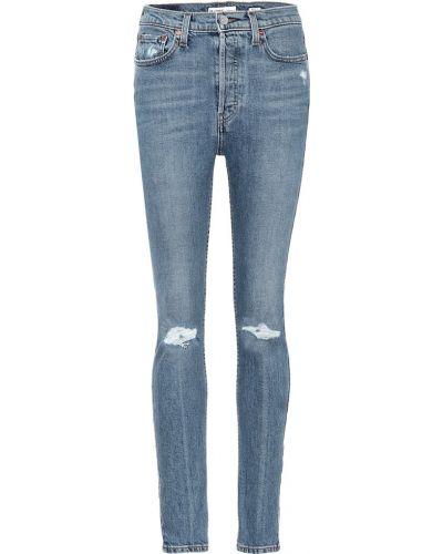 Bawełna bawełna zawężony niebieski obcisłe dżinsy Re/done