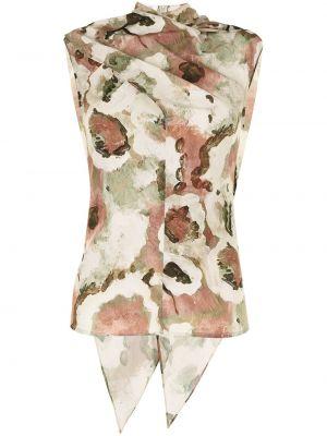 Блузка с короткими рукавами - зеленая Beaufille
