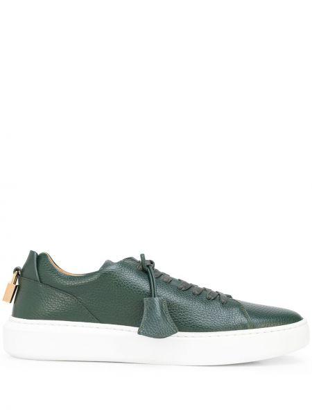 Zielone sneakersy koronkowe Buscemi