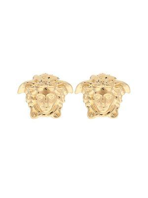 Złote kolczyki sztyfty Versace