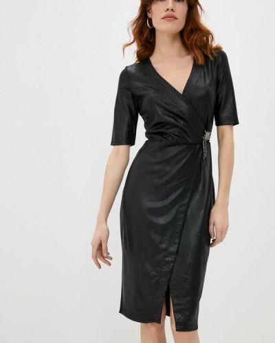 Черное платье с запахом Pinko