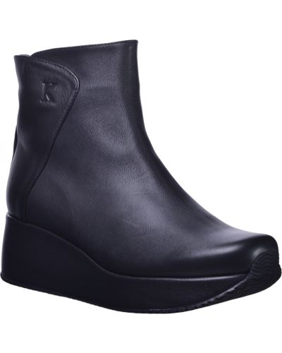 Кожаные ботинки - черные Kelton