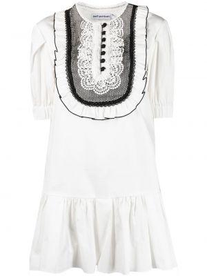 Кружевное платье мини - белое Self-portrait