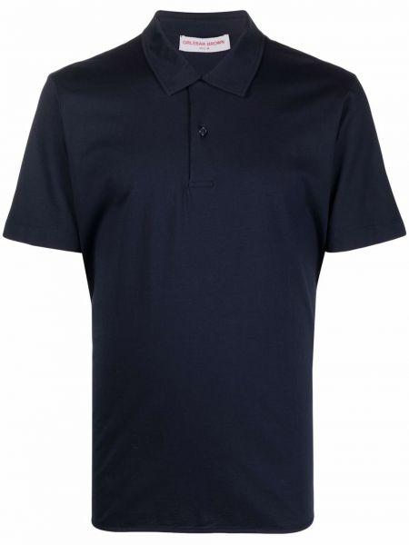Рубашка с коротким рукавом - синяя Orlebar Brown