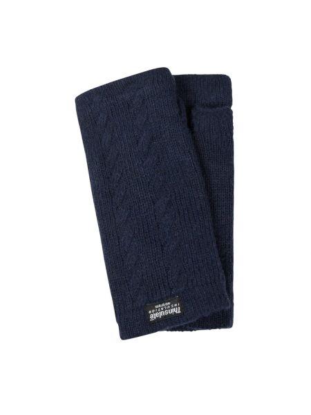 Niebieskie rękawiczki bez palców wełniane Eem-fashion
