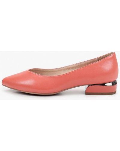 Кожаные красные туфли закрытые Makfine