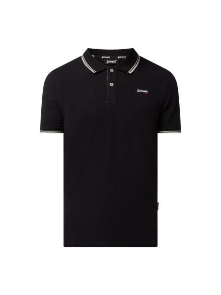 T-shirt bawełniana - czarna Schott Nyc