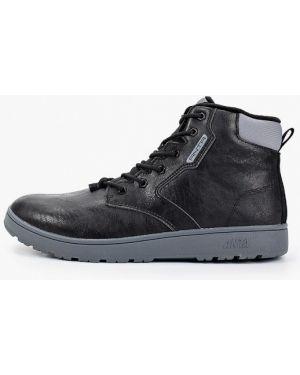 Высокие кроссовки черные из искусственной кожи Anta