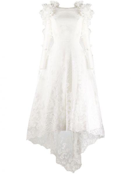 Платье миди со вставками на молнии Loulou