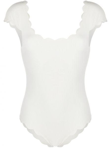 Biały strój kąpielowy krótki rękaw Marysia