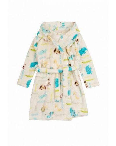Халат детский бежевый фламинго текстиль