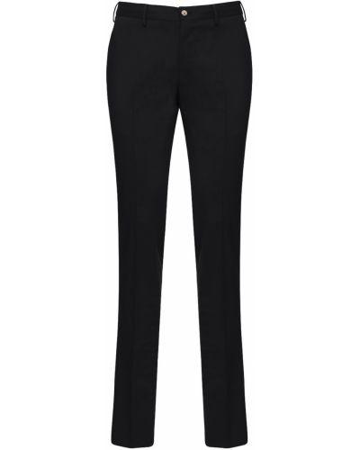 Czarne spodnie do biegania wełniane Pantaloni Torino