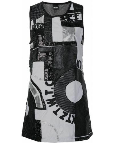 Платье мини с вырезом - черное Ktz