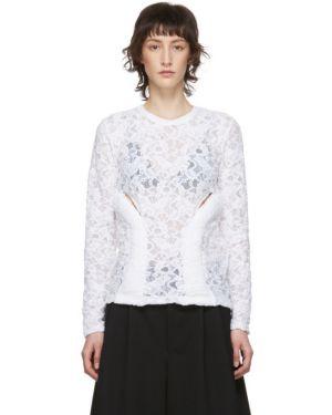 Блузка с длинным рукавом кружевная с воротником-стойкой Comme Des Garcons