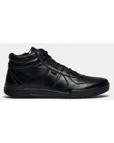 Облегченные черные кожаные ботинки Ralf Ringer