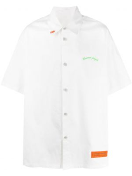 Koszula krótkie z krótkim rękawem z kołnierzem z haftem Heron Preston
