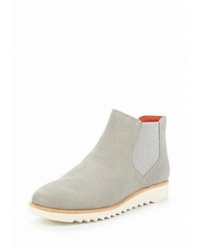 Серые кожаные ботинки челси Tamaris