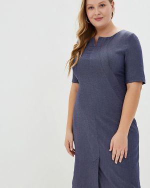 Платье прямое синее Borboleta