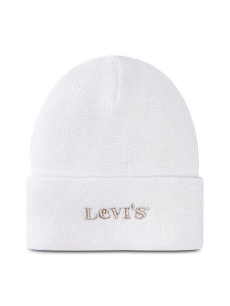 Biała czapka Levi's