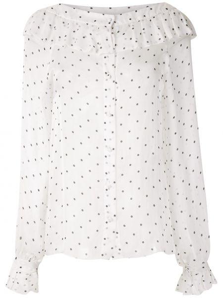 Блузка с рюшами с широкими рукавами Andrea Bogosian