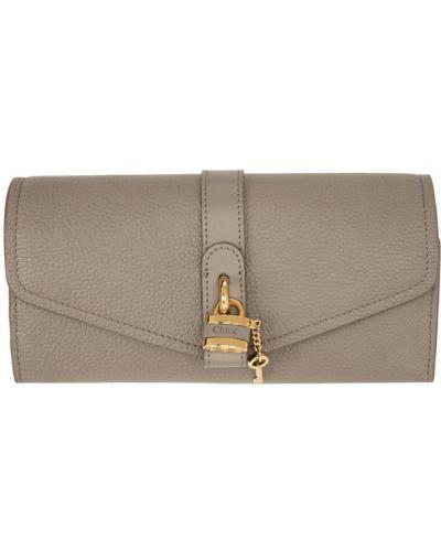 Skórzany portfel z kieszeniami złoto Chloe