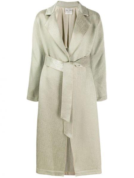 Пальто классическое с поясом на пуговицах Forte Forte