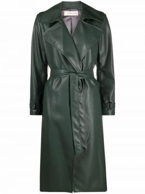 Zielony płaszcz skórzany Blanca Vita