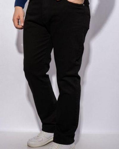 Флисовые джинсы - черные Aaa