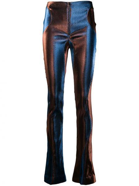 Расклешенные брюки с высокой посадкой на молнии из вискозы Mugler