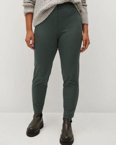 Зеленые зауженные брюки Violeta By Mango