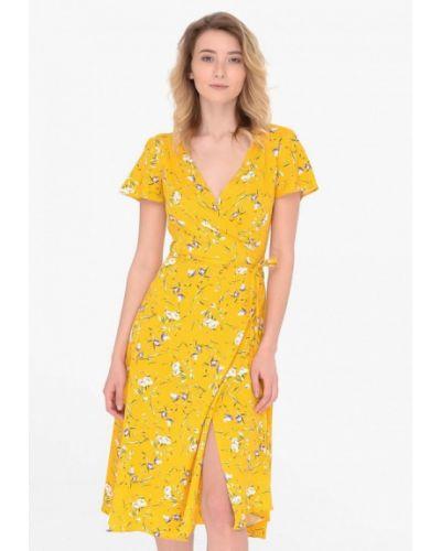Желтое платье с запахом Shtoyko