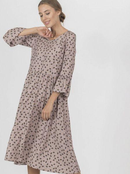 Повседневное платье бежевое весеннее Raimaxx