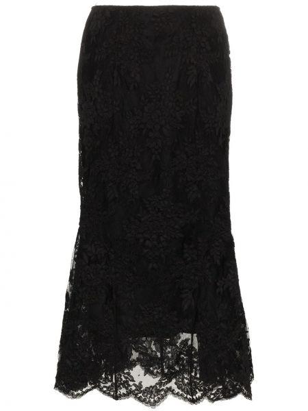 Кружевная юбка - черная Simone Rocha