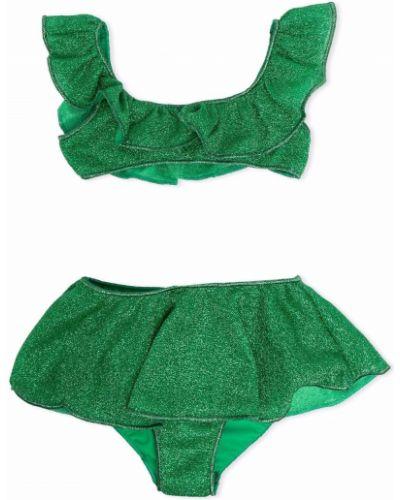Zielony bikini szmaragd Oseree Kids