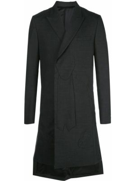 Płaszcz kopertowy bawełniany z długimi rękawami Undercover