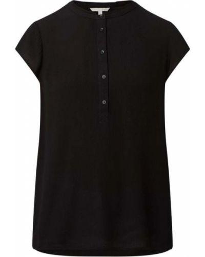 Bluzka z wiskozy - czarna Tom Tailor Denim