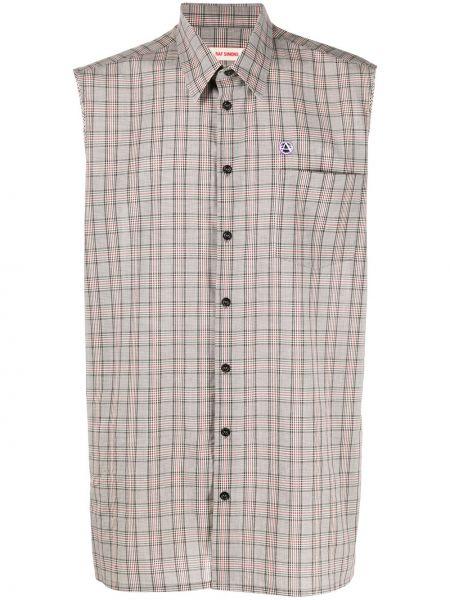 Koszula klasyczna prosto w kratę Raf Simons
