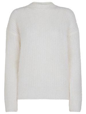 Шерстяной свитер - белый Salvatore Ferragamo
