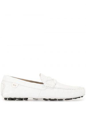 Klasyczne białe loafers skorzane Dolce And Gabbana