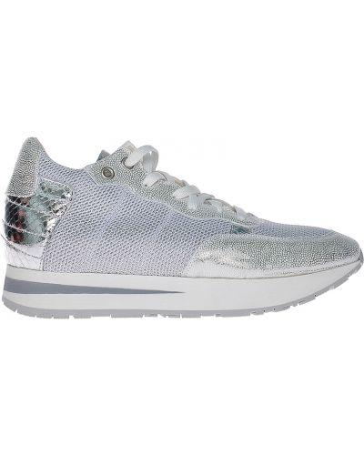Кожаные кроссовки - серебряные Albano