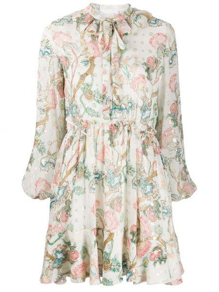 Платье на пуговицах плиссированное Chloé