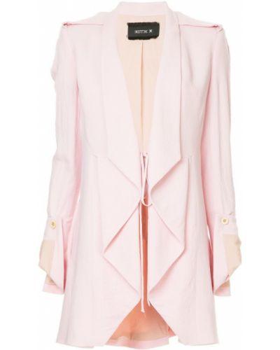 Розовый удлиненный пиджак свободного кроя Kitx
